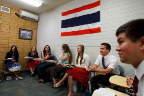 Trent Nelson | The Salt Lake Tribune Missionaries learning Thai at the Missionary Training Center of the Church of Jesus Christ of Latter-day Saints in Provo Tuesday June 18, 2013.