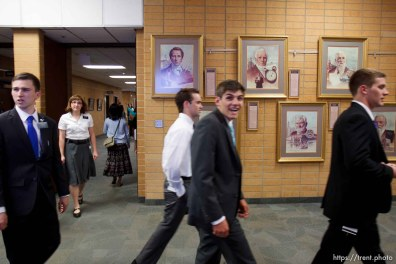 Trent Nelson   The Salt Lake Tribune A missionary smiles for a rare visiting media photographer at the Missionary Training Center of the Church of Jesus Christ of Latter-day Saints in Provo Tuesday June 18, 2013.