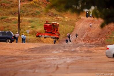 Trent Nelson | The Salt Lake Tribune kids walking the streets in Colorado City Thursday, October 10, 2013.