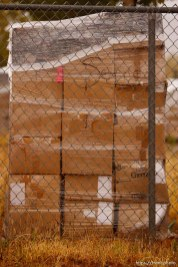 Trent Nelson | The Salt Lake Tribune supplies wrapped up on pallets for transport in Hildale Thursday, October 10, 2013.