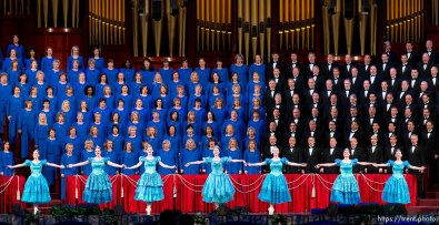 Trent Nelson   The Salt Lake Tribune Dancers perform during a dress rehearsal of the Mormon Tabernacle Choir's Christmas concert with special guests Deborah Voigt and John Rhys-Davies Thursday December 12, 2013 at the LDS Conference Center in Salt Lake City.