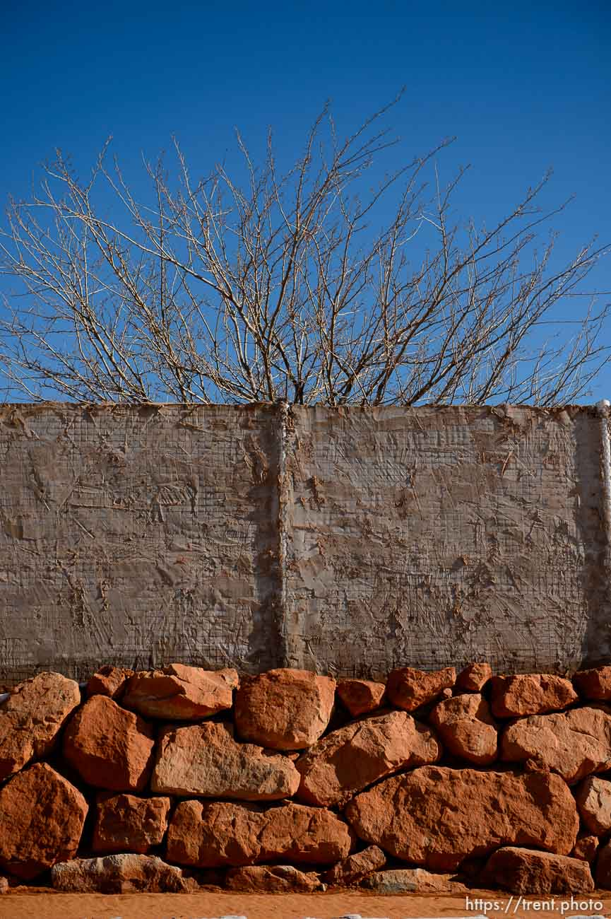 Trent Nelson | The Salt Lake Tribune A wall surrounding a home in Hildale Sunday December 15, 2013.