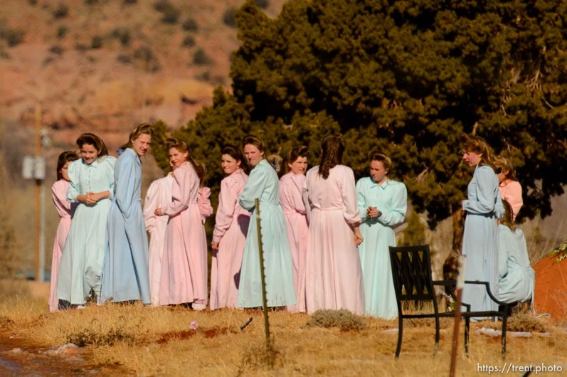 Trent Nelson   The Salt Lake Tribune A group of women gathered in the city cemetery in Colorado City Sunday December 15, 2013.