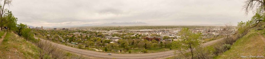 Trent Nelson | The Salt Lake Tribune looking out on the north side of Salt Lake City, Tuesday April 22, 2014.