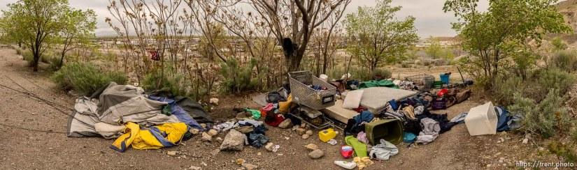 homeless encampment, Salt Lake City, Tuesday April 22, 2014.