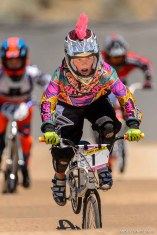 Trent Nelson | The Salt Lake Tribune Morgan Zimmerman races in the 12-year-old girls age class at the U.S. BMX National Series at Rad Canyon BMX in South Jordan, Saturday June 13, 2015.