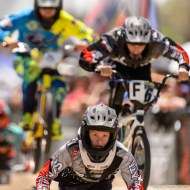 Trent Nelson | The Salt Lake Tribune Gianni Law in the lead, racing in the 13-year-old expert age class at the U.S. BMX National Series at Rad Canyon BMX in South Jordan, Saturday June 13, 2015.