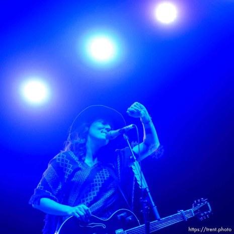 Trent Nelson | The Salt Lake Tribune Brandi Carlile performs at Red Butte Garden in Salt Lake City, Sunday August 16, 2015.