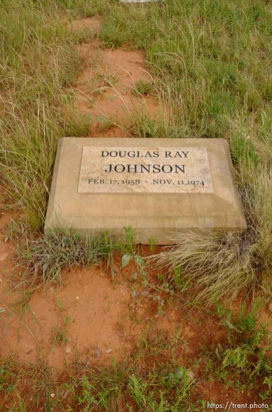 Trent Nelson | The Salt Lake Tribune The grave of Douglas Ray Johnson at the Isaac W Carling Memorial Park Cemetery in Colorado City, Arizona, Wednesday September 16, 2015.