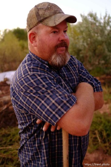 Trent Nelson | The Salt Lake Tribune Russ Cooke talks about reclaiming his family's home, through the eviction of two women who died in Monday's flash flood. Cooke was interviewed during a break in the search for the last missing victim in Colorado City, Arizona, Wednesday September 16, 2015.