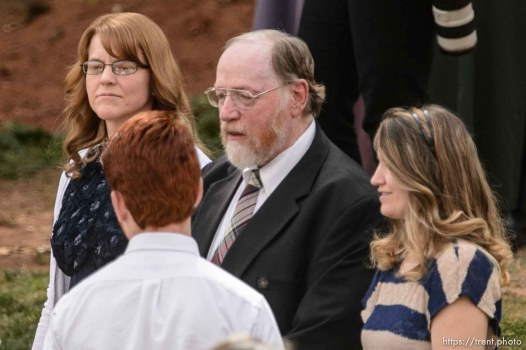 Trent Nelson | The Salt Lake Tribune Polygamist Tom Green in attendance at a memorial for the 13 (and 1 still missing) victims of a September 14th flash flood. The memorial was held in Maxwell Park in Hildale, Saturday September 26, 2015.