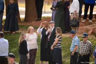Trent Nelson | The Salt Lake Tribune Tom Green at a memorial for the 13 (and 1 still missing) victims of a September 14th flash flood. The memorial was held in Maxwell Park in Hildale, Saturday September 26, 2015.