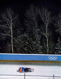 Trent Nelson | The Salt Lake Tribune Chris Mazdzer (USA), competes in the Viessmann Luge World Cup at the Utah Olympic Park, Saturday December 12, 2015.
