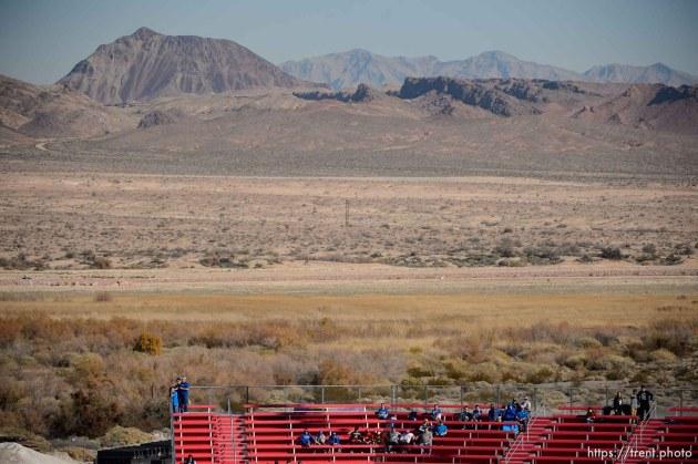 Trent Nelson   The Salt Lake Tribune byu fans before kickoff as Utah faces BYU in the Royal Purple Las Vegas Bowl, NCAA football at Sam Boyd Stadium in Las Vegas, Saturday December 19, 2015.