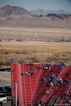 Trent Nelson | The Salt Lake Tribune byu fans before kickoff as Utah faces BYU in the Royal Purple Las Vegas Bowl, NCAA football at Sam Boyd Stadium in Las Vegas, Saturday December 19, 2015.