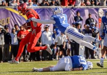 Trent Nelson   The Salt Lake Tribune Utah Utes quarterback Travis Wilson (7) runs for a touchdown as Utah faces BYU in the Royal Purple Las Vegas Bowl, NCAA football at Sam Boyd Stadium in Las Vegas, Saturday December 19, 2015.