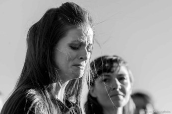 "Trent Nelson | The Salt Lake Tribune Thara Tenney and Belle Collier, daughters of Robert ""LaVoy"" Finicum, speak following his funeral in Kanab, Friday February 5, 2016. Finicum was shot and killed by police during a January 26 traffic stop. Finicum was part of the armed occupation of an Oregon wildlife refuge."