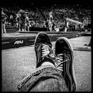 trent feet, utah v michigan, gymnastics, Saturday January 7, 2017.