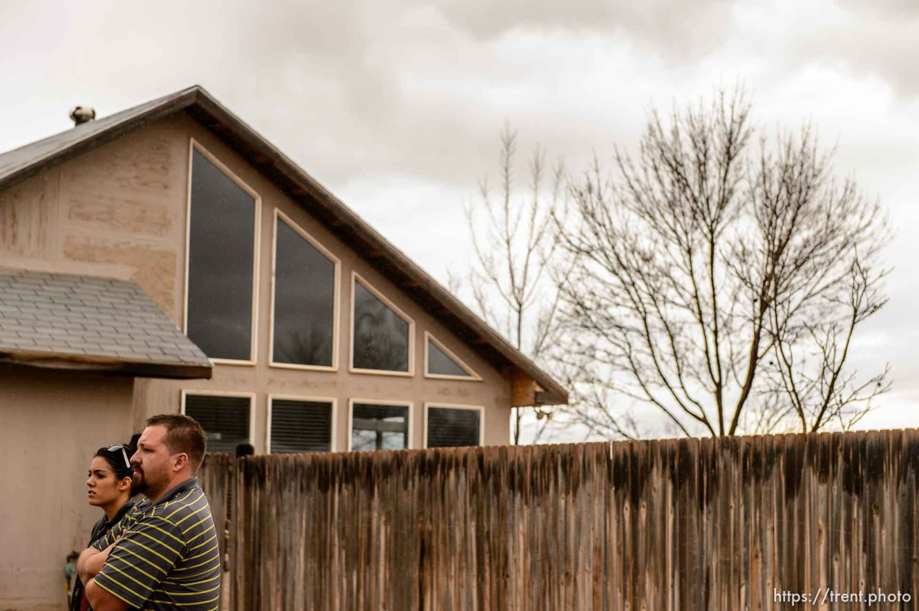 Trent Nelson | The Salt Lake Tribune Shawn and Alexandra Stubbs at a Hildale home owned by the United Effort Plan trust that they hope to move into, Saturday February 11, 2017.