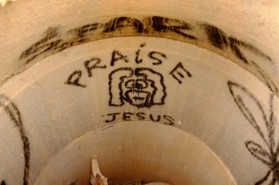 praise jesus graffiti, hike, hurricane, Sunday February 12, 2017.