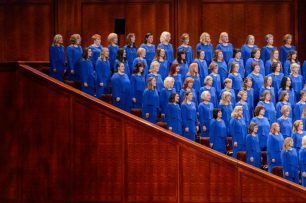 Trent Nelson | The Salt Lake Tribune The Mormon Tabernacle Choir sings during the morning session of the 187th Annual General Conference at the Conference Center in Salt Lake City, Sunday April 2, 2017.