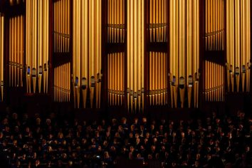 Trent Nelson   The Salt Lake Tribune Mormon Tabernacle Choir during the morning session of the 187th Annual General Conference at the Conference Center in Salt Lake City, Sunday April 2, 2017.