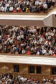 Trent Nelson | The Salt Lake Tribune Attendees at the afternoon session of the 187th Annual General Conference at the Conference Center in Salt Lake City, Sunday April 2, 2017.