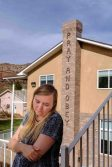 Trent Nelson | The Salt Lake Tribune Brielle Decker at the former home of Warren Jeffs in Hildale, Wednesday April 5, 2017.