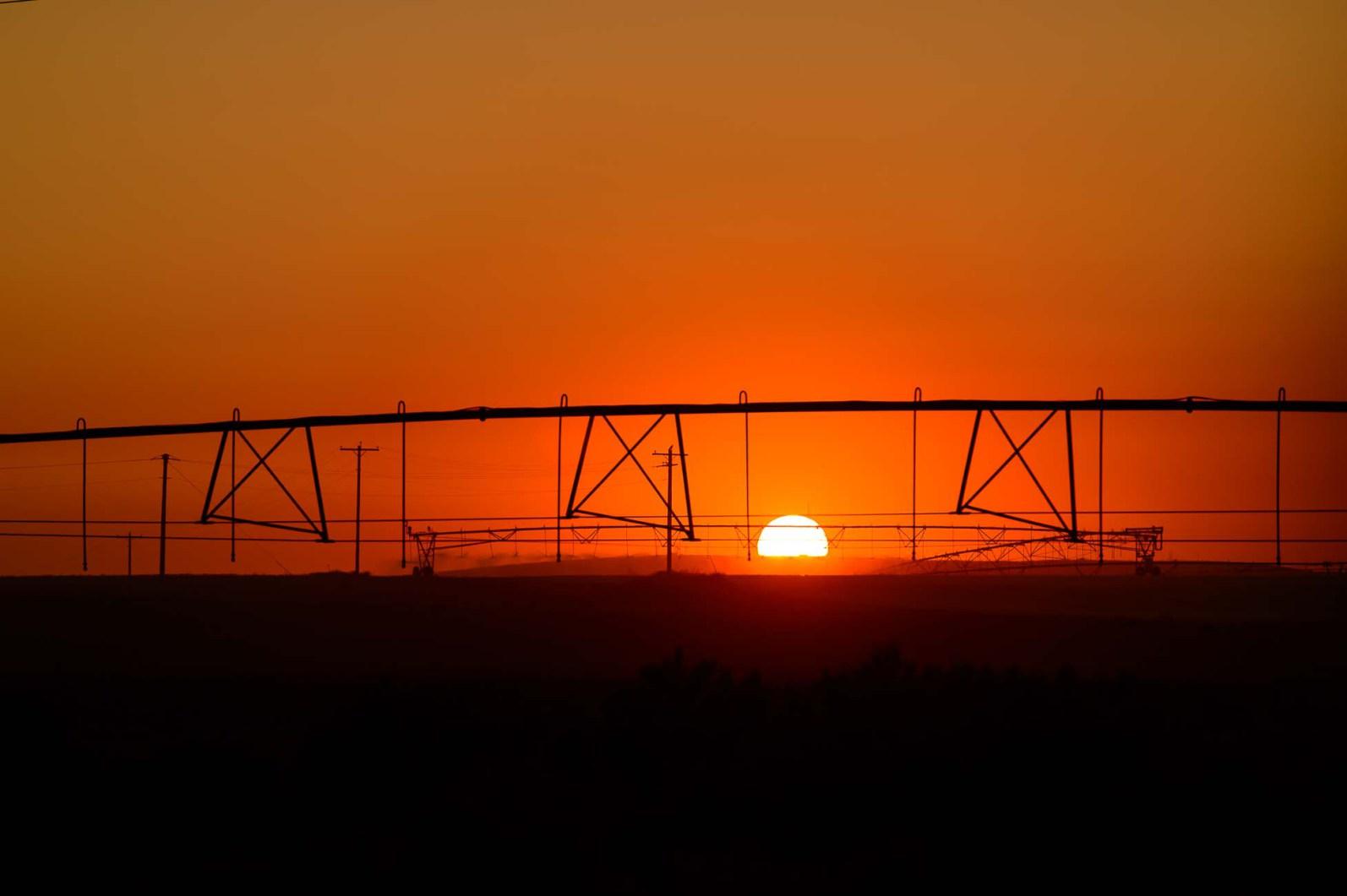 sunset, Monday August 21, 2017.