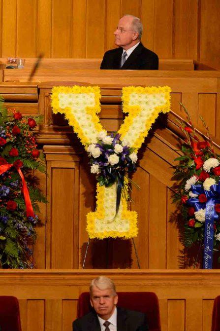 (Trent Nelson   The Salt Lake Tribune) at funeral services for Elder Robert D. Hales at the Salt Lake Tabernacle in Salt Lake City Friday October 6, 2017.
