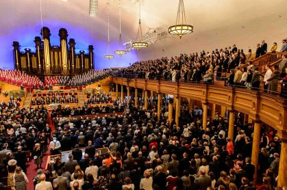 (Trent Nelson | The Salt Lake Tribune) Funeral services for Elder Robert D. Hales at the Salt Lake Tabernacle in Salt Lake City Friday October 6, 2017.