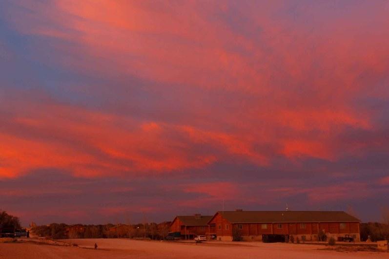 Eldorado - sunset at the YFZ Ranch. Wednesday, January 7, 2009.; 01.07.2009