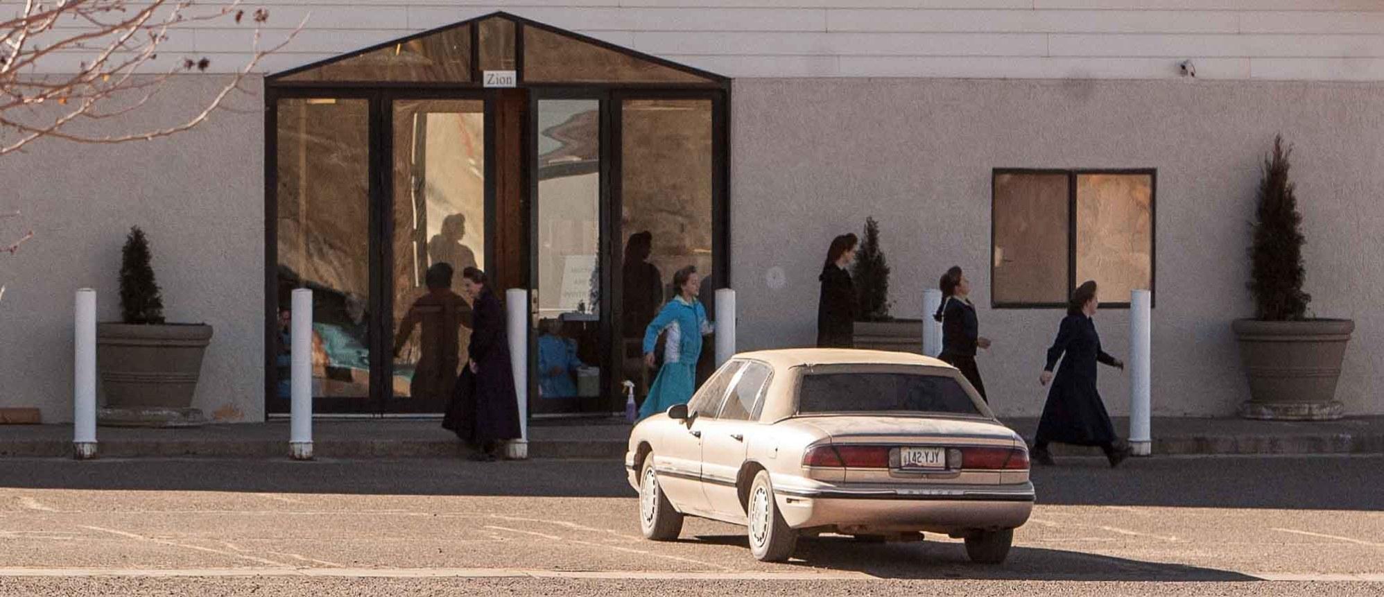 Trent Nelson | The Salt Lake Tribune lsj meeting house, driving around, in Colorado City, Arizona, Saturday, January 14, 2012.