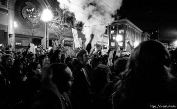 Chanting at Gulf War protest