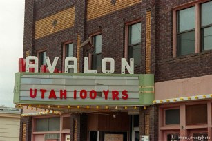 Avalon Theater marquee at Utah Centennial Celebration