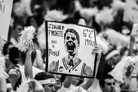 Trent Nelson | The Salt Lake Tribune in the second half at BYU vs. Utah, college basketball in Provo, Utah, Saturday, February 12, 2011. BYU won 72-59. jimmer fredette has a posse