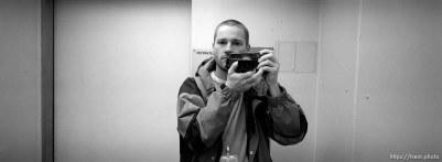 Trent Nelson in mirror.