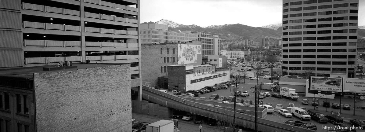 View from the parking garage.