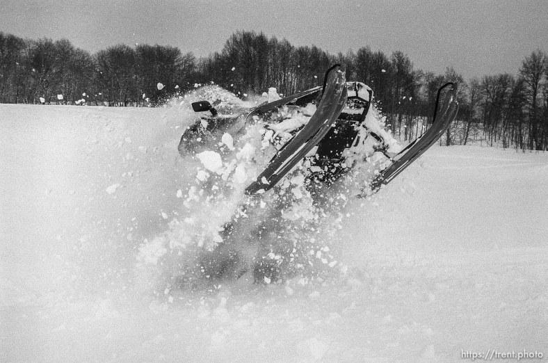 Christian Godfrey snowmobiling.