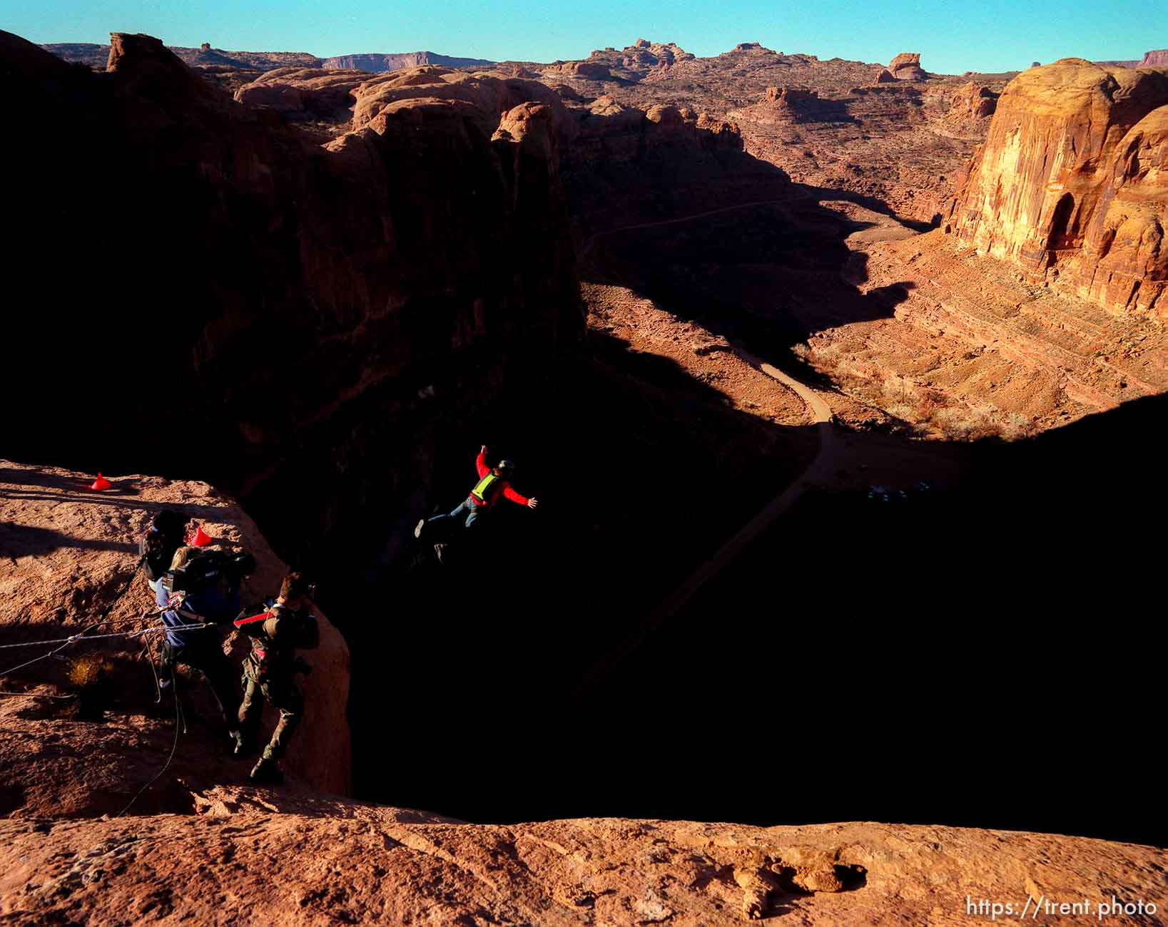 BASE Jumping off Old Tombstone.