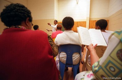 The closing hymn at an LDS relief society meeting.