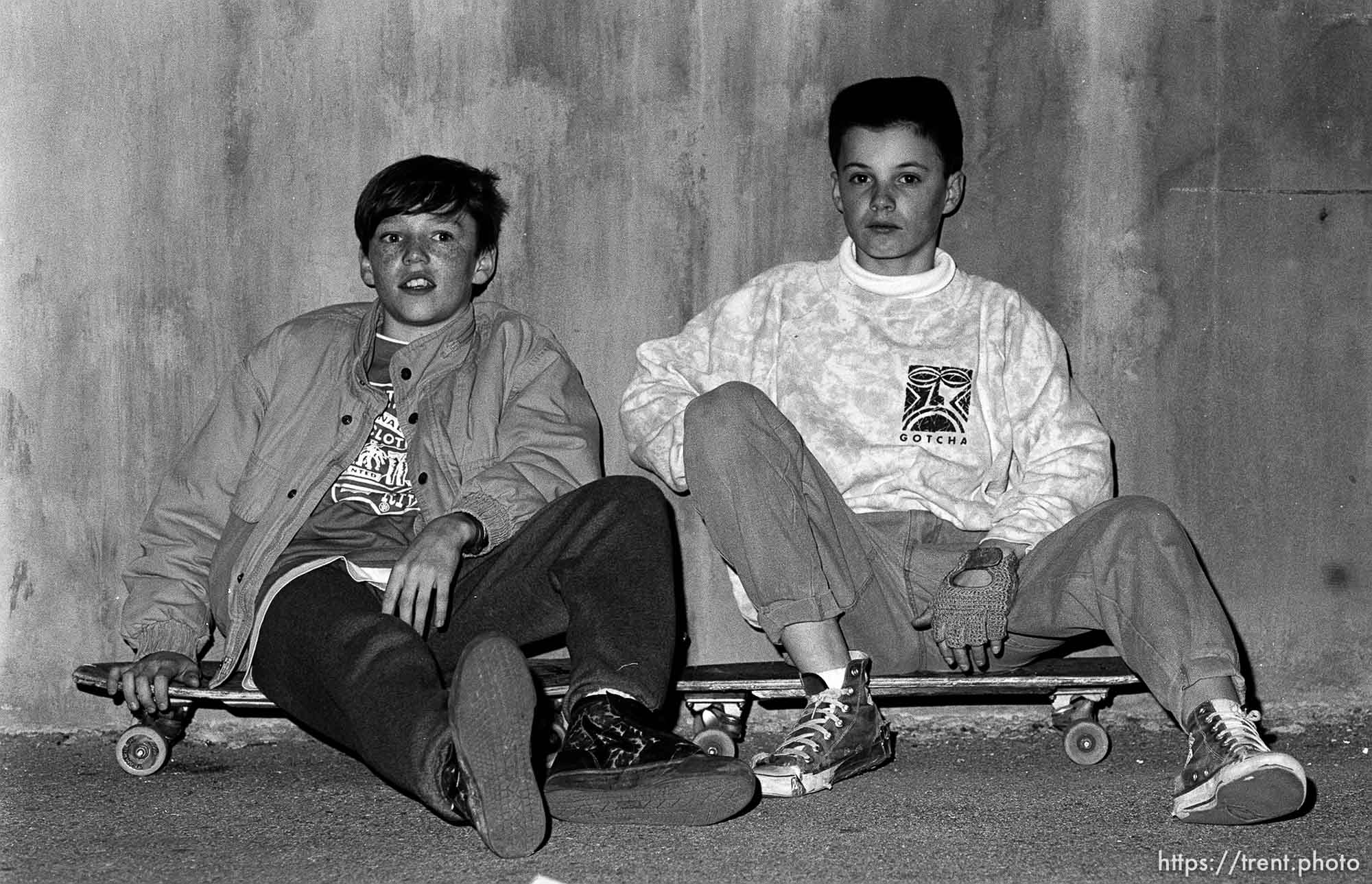 Two skaters, february 1988. p
