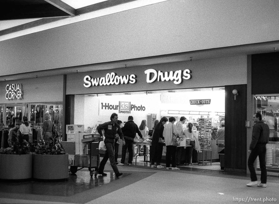 """Swallows Drugs"" in University Mall."