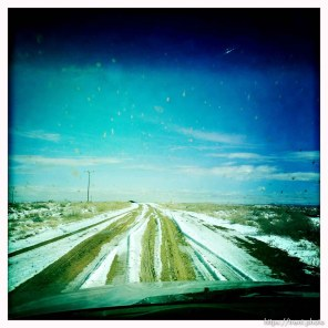 windshield in the oil fields of the Uintah Basin