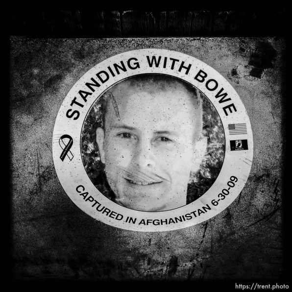 standing with bowe bergdahl sticker. SGT Bowe Bergdahl US Army Captured in Afghanistan