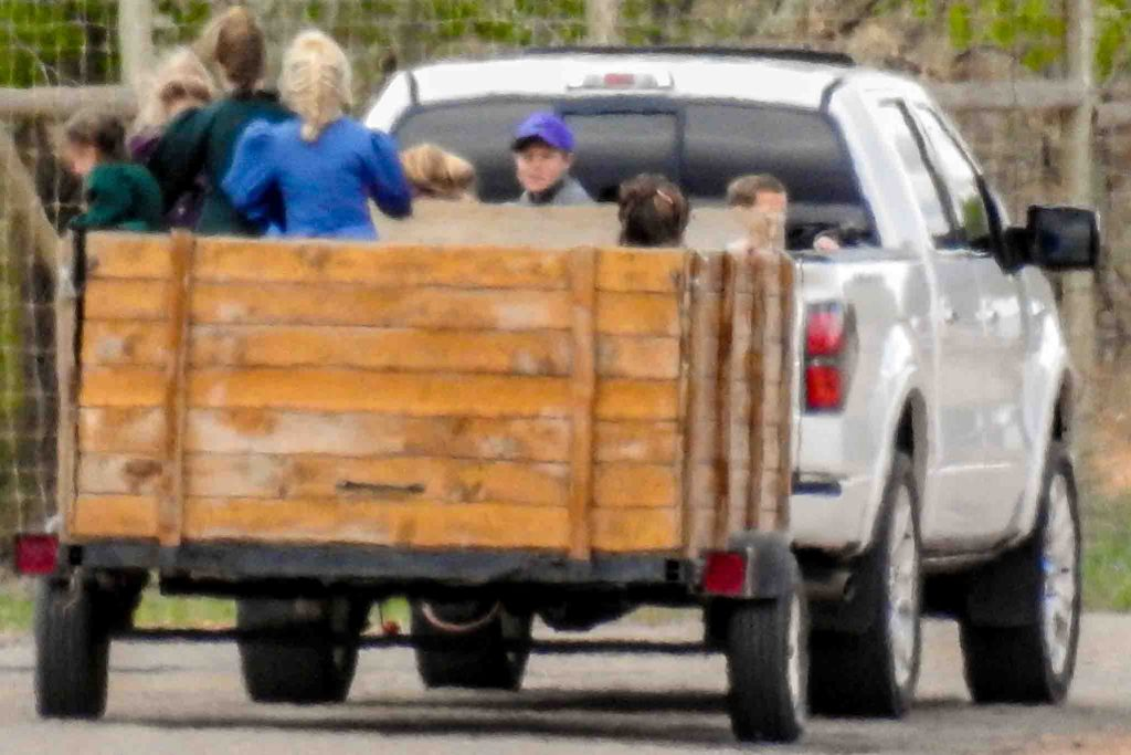 FLDS children in trailer, Friday April 15, 2016.