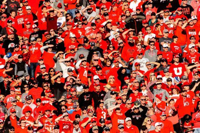Trent Nelson   The Salt Lake Tribune Utah fans, as Utah hosts Oregon, NCAA football at Rice-Eccles Stadium in Salt Lake City, Saturday November 19, 2016.