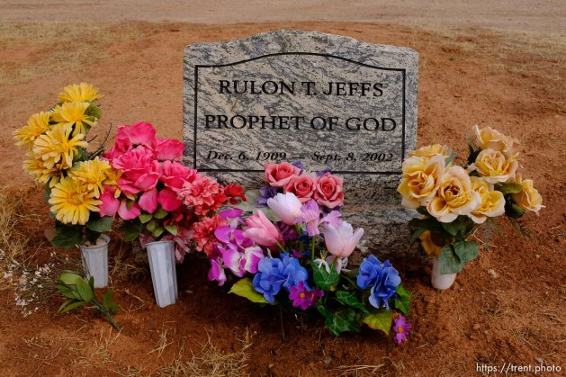 Rulon T. Jeffs. Isaac W. Carling Memorial Park, Colorado City, Friday March 16, 2018.