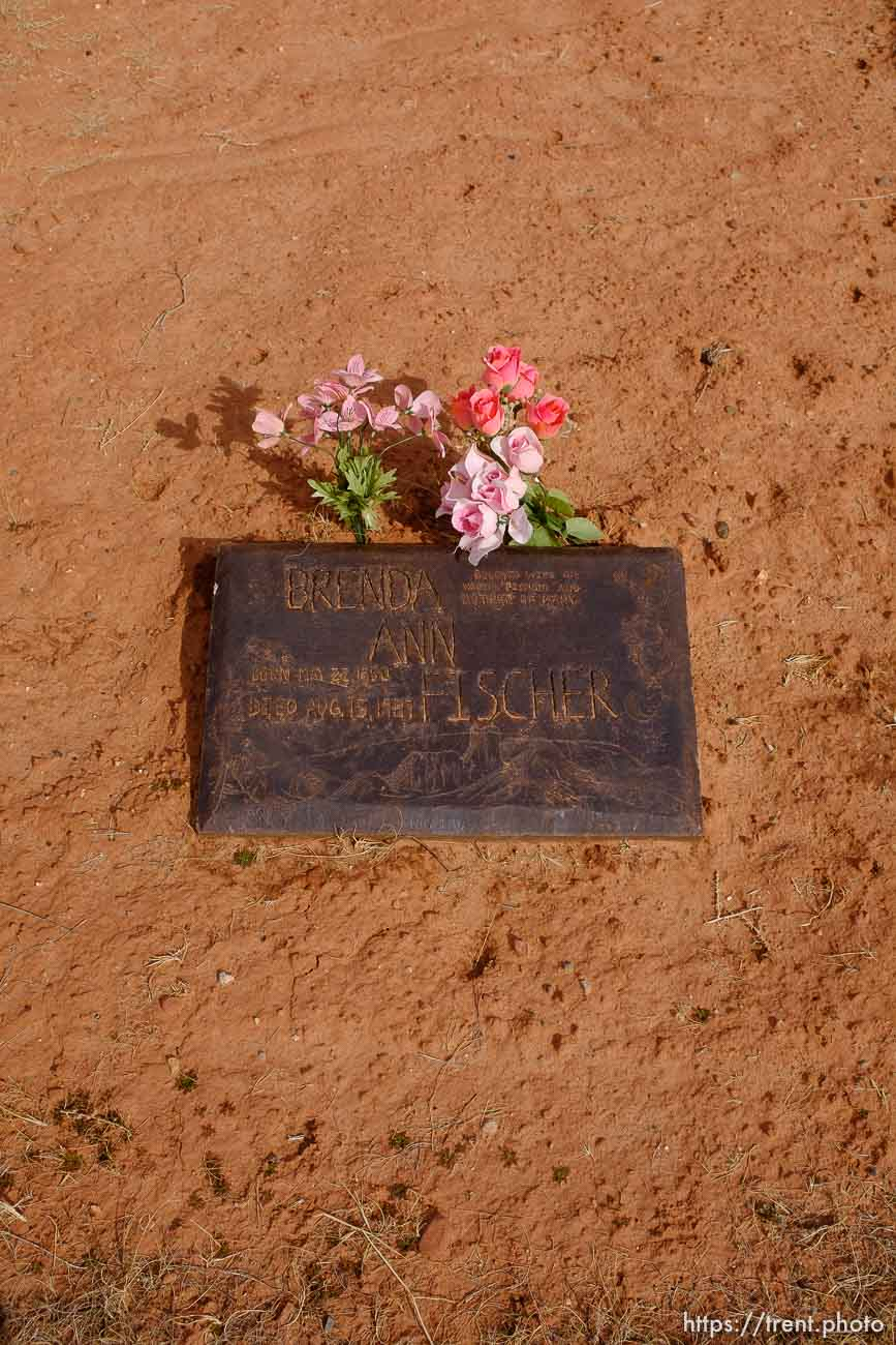Brenda Ann Fischer, 1950-1987. Isaac W. Carling Memorial Park, Colorado City, Friday March 16, 2018.