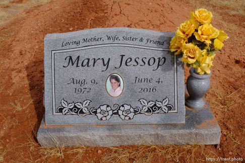 Mary Jessop, 1972-2016. Isaac W. Carling Memorial Park, Colorado City, Friday March 16, 2018.